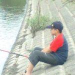 江戸川で釣り