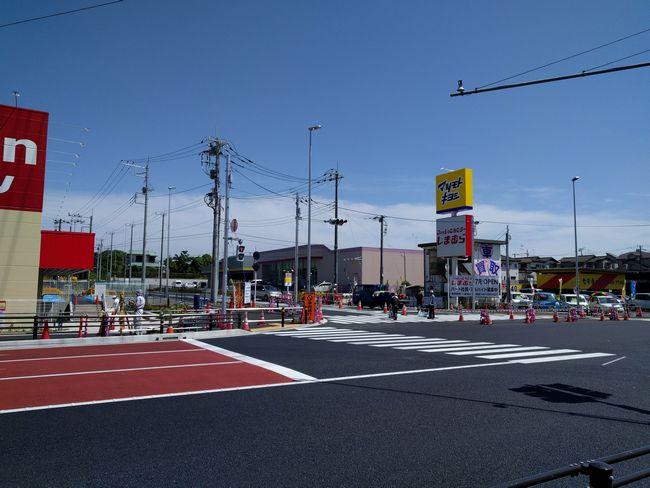国道6号線二ツ木 びっくりドンキー、マクドナルド前にジョーシン電機が初夏にオープン、隣のしまむらは7月オープン