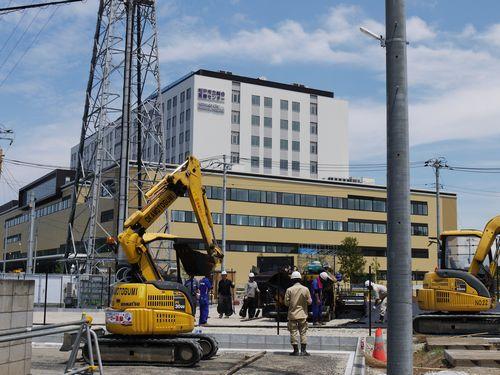 松戸市立総合医療センターの建設状況を見てきた